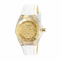 Techno Marine Womens White Strap Watch-Tm-115156