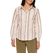 Alfred Dunner® Cactus Ranch Long Sleeve Stripe Shirt