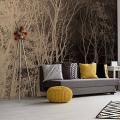 Brewster Wall Abstract Trees Wall Mural 6-pc. Wall Murals