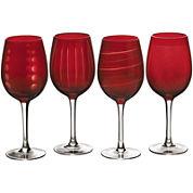 Mikasa® Cheers Ruby Set of 4 Wine Glasses