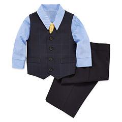 Shirt, Vest, Tie and Pants Set - Toddler Boys 2t-5t