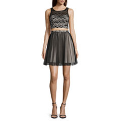 My Michelle® 2-pc. Sleeveless Two-Tone Party Dress - Juniors