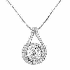 LIMITED QUANTITIES! 1/2 CT. T.W. White Diamond Round 10K Gold Pendant