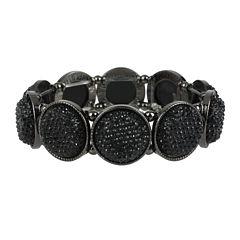 Mixit™ Black Stone Silver-Tone Stretch Bracelet