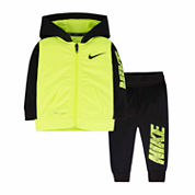 Nike® 2-pc. Black Volt Yellow Fit Set - Baby Boys newborn-24m