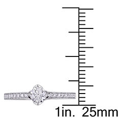 Womens 1/2 CT. T.W. Genuine Round White Diamond 14K Gold Engagement Ring