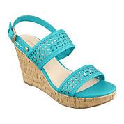 Liz Claiborne® Kian Wedge Sandals