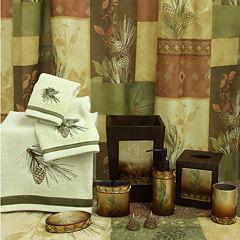 Bacova Pine Cone Silhouette Bath Collection