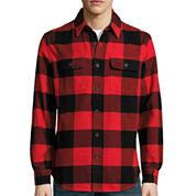 St. John's Bay® Long-Sleeve Brawny Flannel Shirt