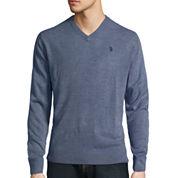 U.S. Polo Assn.® Long-Sleeve V-Neck Sweater