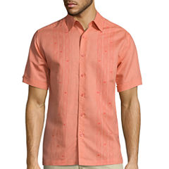 The Havanera Co.® Short-Sleeve Printed Panels Shirt