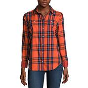 Stylus Modern Fit Long Sleeve Button-Front Shirt