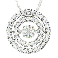 Love in Motion™ 3/8 CT. T.W. Diamond 10K White Gold Pendant Necklace