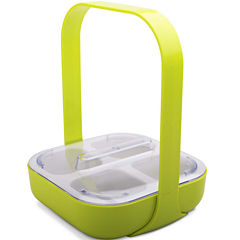 Zak Designs® 4-Section Serving Caddy with Handle & Lid