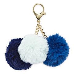 Triple Pom Key Chain