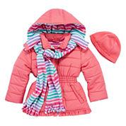 Pink Platinum Girls Heavyweight Puffer Jacket-Toddler