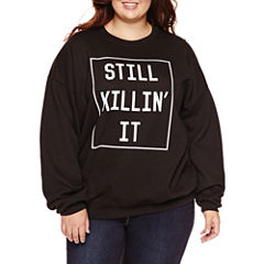 Long Sleeve Pullover Sweater-Juniors Plus