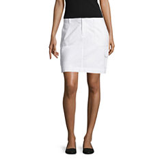 St. John's Bay Solid Woven Skorts