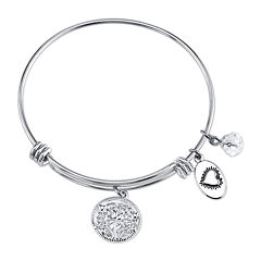 Footnotes Too® Stainless Steel Daughters Expandable Bangle Bracelet