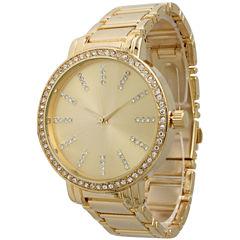 Olivia Pratt Womens Gold Tone Strap Watch-15267gold