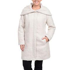Excelled® Bouclé Hooded Jacket - Plus