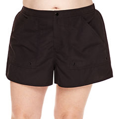 Azul by Maxine of Hollywood Solid Board Shorts-Plus