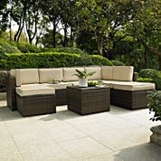 Palm Harbor Wicker 8-pc. Patio Sectional
