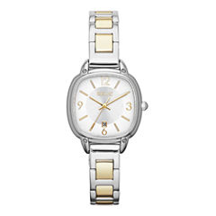 Relic® Womens Two-Tone Square Watch ZR34244
