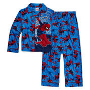 Marvel Spiderman Coat Front Pajama Set- Boys 4-10