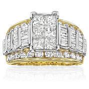 3 CT. T.W. Diamond Multi-Stone Engagement Ring