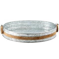 Cambridge® Shiloh Galvanized and Rope Bar Tray