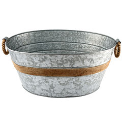 Cambridge® Shiloh Rustic Galvanized Party Beverage Tub