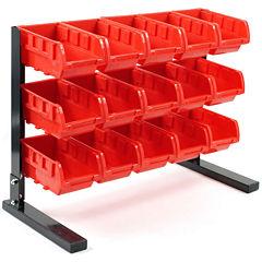 Stalwart™ 15-pc. Bench-Top Parts Rack