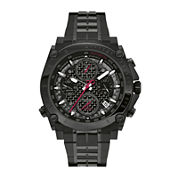 Bulova® Precisionist Mens Black Stainless Steel Watch 98B257