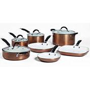 Bella™ 11-pc. Ceramic Aluminum Nonstick Cookware Set