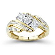Love Lives Forever 1/2 CT. T.W. Round White Diamond 10K Gold 3-Stone Ring