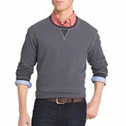 IZOD® Long-Sleeve Stripe Fleece Sweater