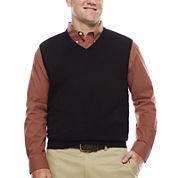 IZOD® Fieldhouse V-Neck Sweater Vest - Big & Tall
