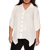 Alyx 3/4 Sleeve Woven Blouse-Plus