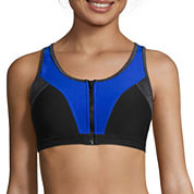 Xersion™ Quick-Dri® High Support Colorblock Zip-Front Bra
