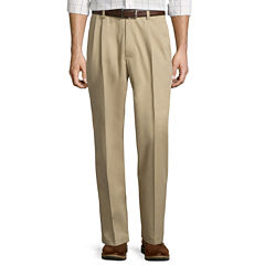 St. John's Bay® Easy-Care Pleat-Front Pants