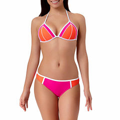 Arizona Colorblock Triangle Push-Up Swim Top or Colorblock Hipster Bottoms