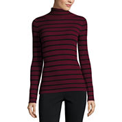 Ohmg Long Sleeve Turtleneck Pullover Sweater-Juniors