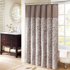 Madison Park Whitman Jacquard Shower Curtain