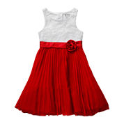 Emily West Pleated Lace Dress - Girls 7-16