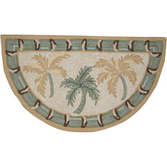 Nourison® Palms Hand-Hooked Wedge Rug