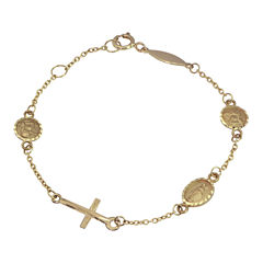 Girls 14K Gold Charm Bracelet