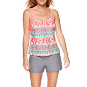 Splashletics Layered Tankini or Swim Short