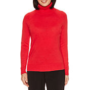 Sag Harbor Long Sleeve Turtleneck Pullover Sweater