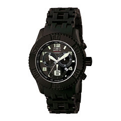 Invicta® Sea Spider Mens Black Resin Strap Chronograph Sport Watch 6713